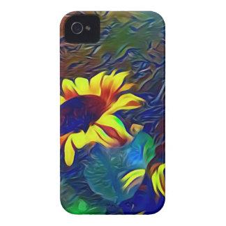 Pretty Vibrant Artistic Sunflowers iPhone 4 Case-Mate Cases