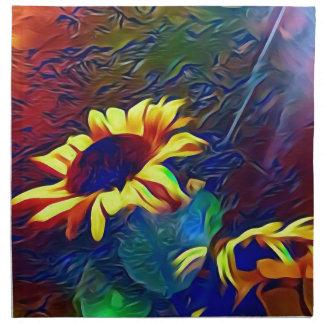 Pretty Vibrant Artistic Sunflowers Napkin