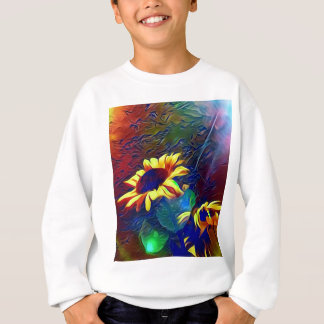 Pretty Vibrant Artistic Sunflowers Sweatshirt