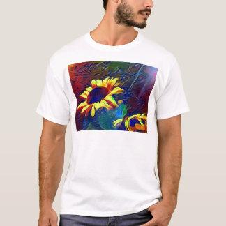 Pretty Vibrant Artistic Sunflowers T-Shirt