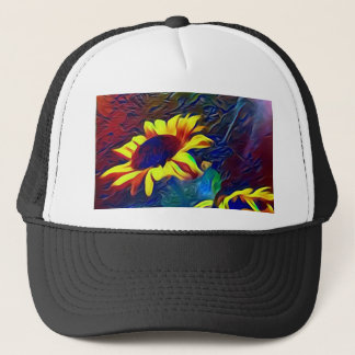 Pretty Vibrant Artistic Sunflowers Trucker Hat