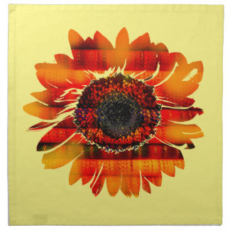 Pretty Vibrant Fiery Sunflower Napkin