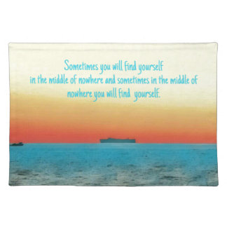 Pretty Vibrant Oceanscape Wisdom Quote Placemat