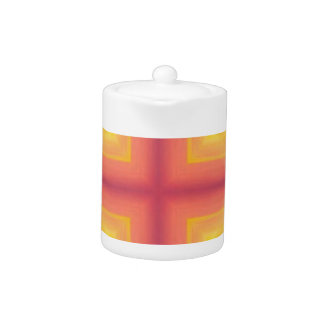 Pretty Vibrant Yellow Peach Cross shaped Pattern