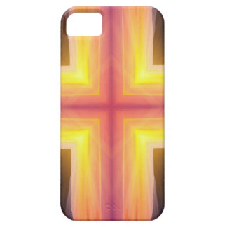 Pretty Vibrant Yellow Peach Cross shaped Pattern iPhone 5 Cases