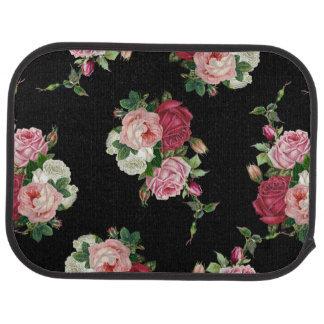 Pretty Victorian Cabbage Roses Car Mat