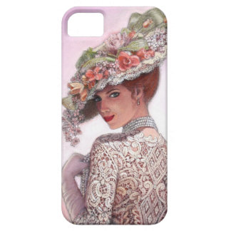 Pretty Victorian Fashion Girl iPhone 5 Case