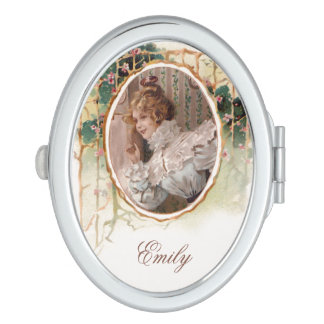 Pretty Victorian Lady Personalized Mirror For Makeup