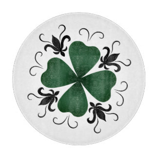 Pretty victorian St. Patrick's Day shamrock Cutting Board