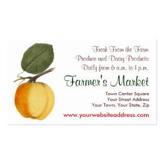 Pretty Vintage Apple Farmer's Market, Greengrocer Business Cards