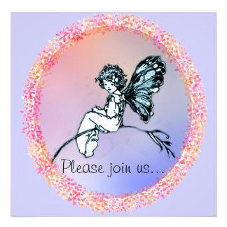 Pretty Vintage Fairy invitation