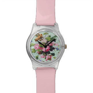 Pretty Vintage Flowers Watch