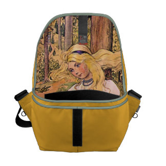 Pretty Vintage Girl Courier Bags
