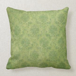 Pretty  vintage look green scroll  pillow