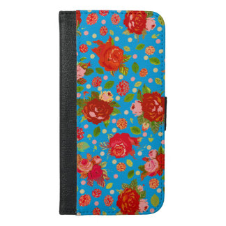 Pretty Vintage Roses iPhone 6 Plus Wallet Case