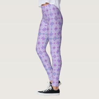 Pretty Violet Curly Designed Leggings