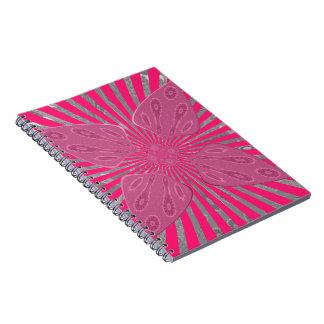 Pretty Vivid Pink Beautiful amazing edgy cool art Notebook
