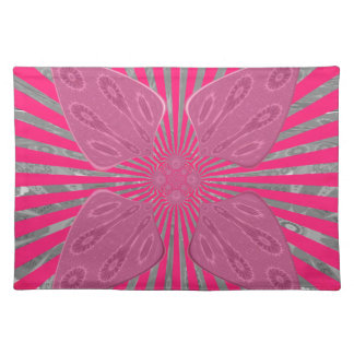 Pretty Vivid Pink Beautiful amazing edgy cool art Placemat