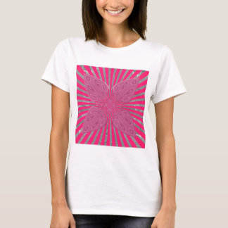 Pretty Vivid Pink Beautiful amazing edgy cool art T-Shirt