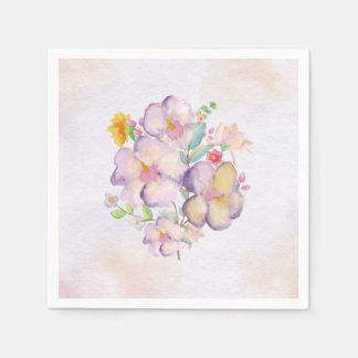 Pretty Watercolor Bouquet (1) - All Sizes Paper Napkins