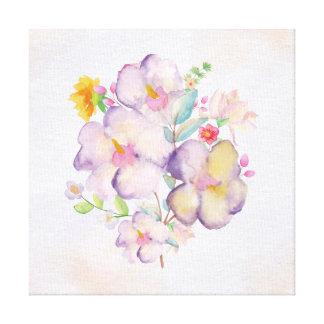 Pretty Watercolor Bouquet (1) Canvas Print