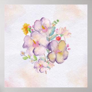 Pretty Watercolor Bouquet (1) Poster