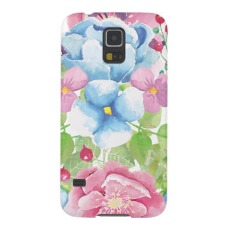 Pretty Watercolor Floral Bouquet Galaxy S5 Case
