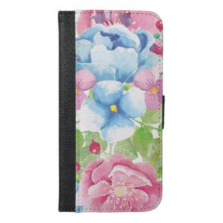 Pretty Watercolor Floral Bouquet iPhone 6/6s Plus Wallet Case