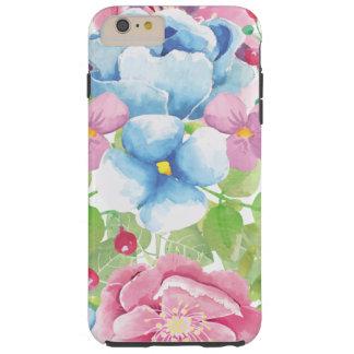Pretty Watercolor Floral Bouquet Tough iPhone 6 Plus Case