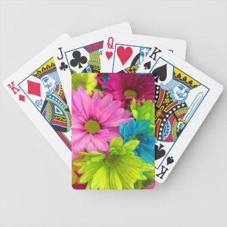 Pretty Watercolor Flowers Bouquet Bicycle Playing Cards