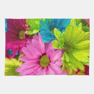 Pretty Watercolor Flowers Bouquet Kitchen Towel