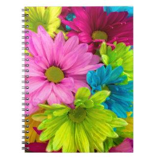 Pretty Watercolor Flowers Bouquet Notebook