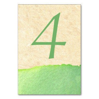 Pretty Watercolor Light Green Wedding Table Number Table Cards