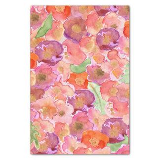 Pretty Watercolor Poppies Tissue Paper