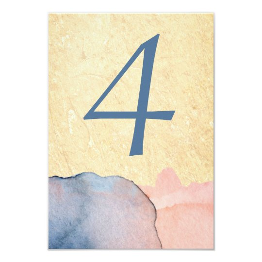 Pretty Watercolor Wedding Number Table Cards