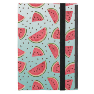 Pretty watermelon slices and seeds pattern iPad mini cover