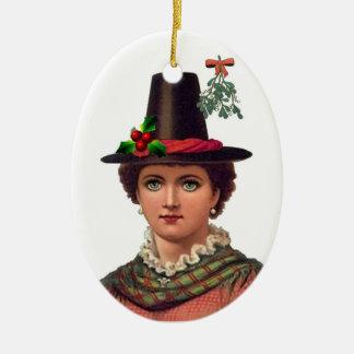 Pretty Welsh Girl Ornament