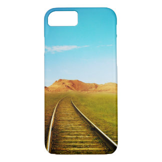 Pretty Western Train Tracks Landscape Phone Case