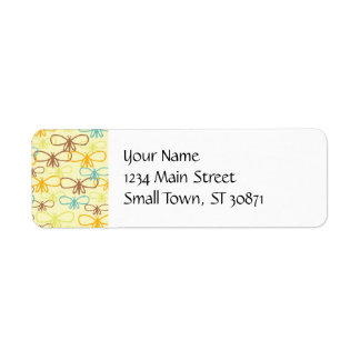 Pretty Whimsical Dragonfly Line Art Butterflies Return Address Label