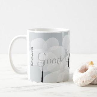 Pretty White Anemones Monogrammed Good Coffee Mug