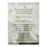 Pretty white azalea flowers Christian wedding Personalized Invite