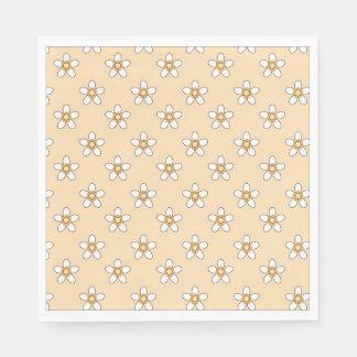 pretty white daisy flower napkins paper napkin