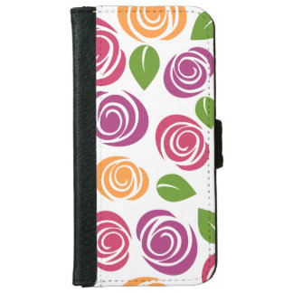 Pretty White Floral iPhone 6/6s Wallet Case