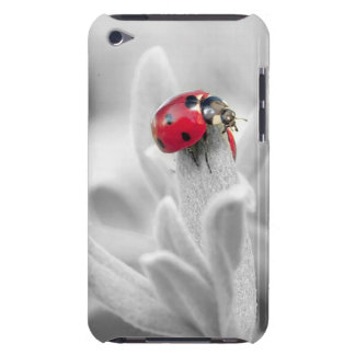 Pretty White Flower with Red Ladybug Phone Case