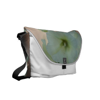 Pretty White Hollyhock Commuter Bags