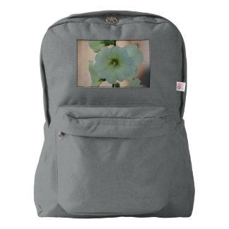 Pretty White Holyhock Backpack