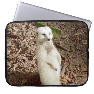 Pretty White Meerkat, Laptop Sleeve