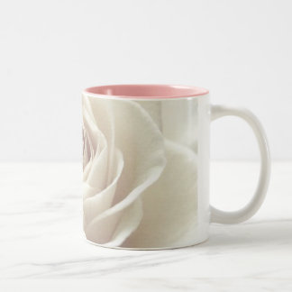 pretty white rose mug