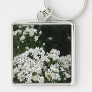 Pretty White Wildflower Keychain
