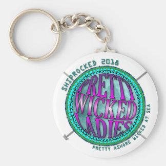 Pretty Wicked Ladies Compass Keychain